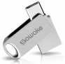 Wasserdichter USB Stick 64GB USB-A 3.0&USB Type-Cfür 12,49€