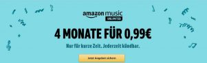 [PRIME] Amazon Music UNLIMITED 4 Monate nur 99 Cent