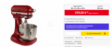 KitchenAid 5KPM5EER Heavy Duty Küchenmaschine Empire-Rot Günstig