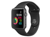 Apple Watch Series 1, 42 mm, Aluminium spacegrau, Sportarmband schwarz